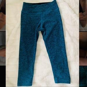 Beyond Yoga | Blue Cropped Workout Leggings Sz. XS